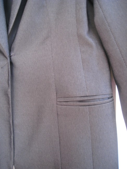 Laundry by Selli Segal Laundry , Dark Grey ,Skirt or Pants Slightly Fitted Blazer.