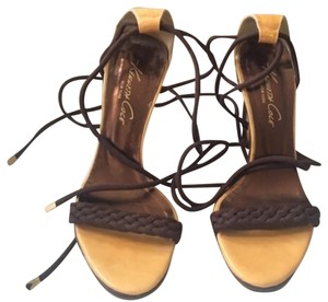 Kenneth Cole Brown and Gold Sandals