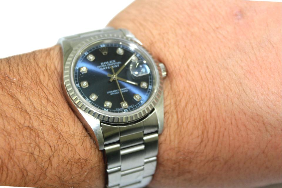 67bf560eafb Rolex Datejust 41 Blue Diamond Dial Automatic Men's Watch Image 0 ...