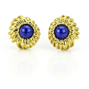 Tiffany & Co. Tiffany & Co. Vintage Gold Earrings with Lapis Lazuli