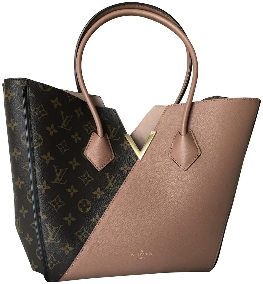 737971676cd Louis Vuitton Kimono Mm with Suede Rare Color Rose Monogram Canvas and Calf  Leather Tote