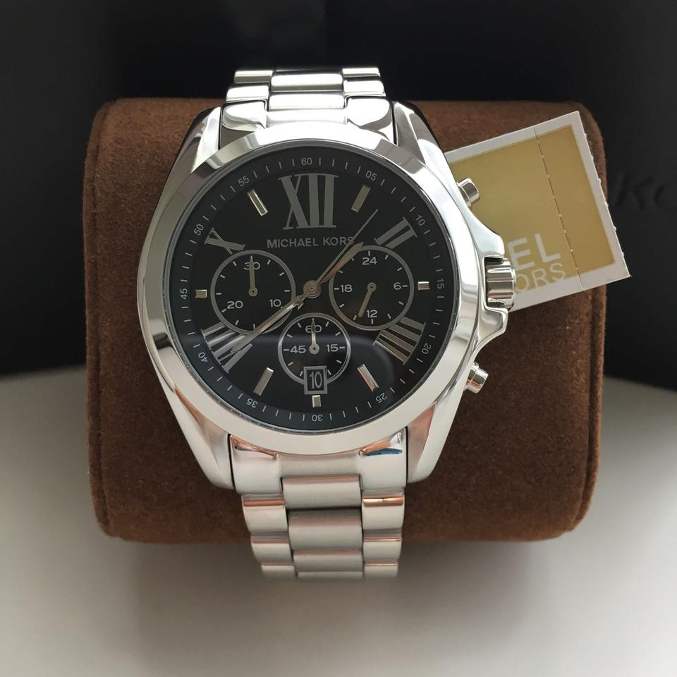 3ee86caaebba Michael Kors Silver and Black Dial Silver Black Sport Unisex Mk5705 ...