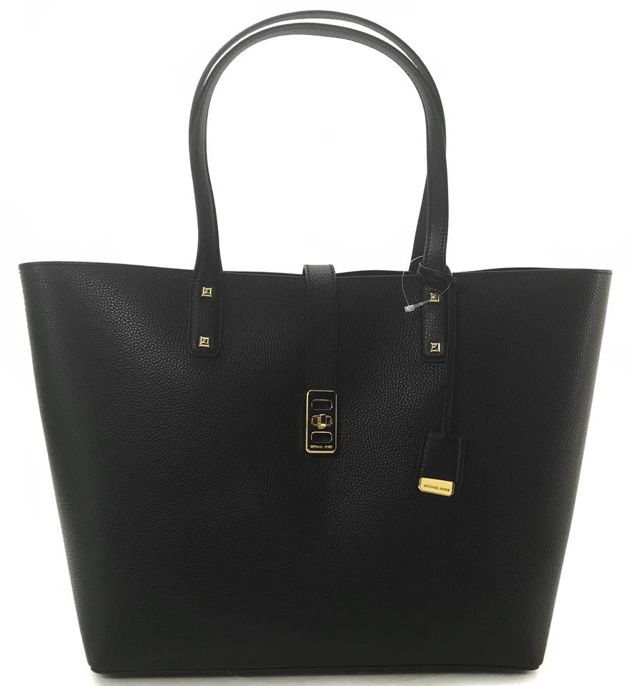 MICHAEL Michael Kors Carryall New Karson Large Black Leather Tote 64% off retail