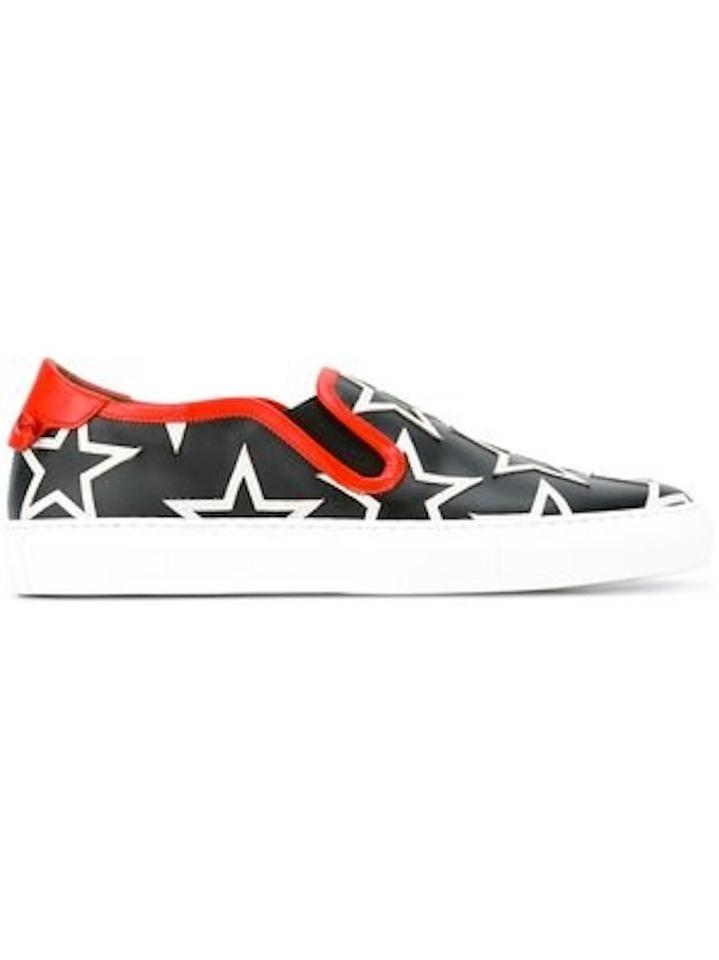 White Star Sneakers Sneakers Givenchy Low Star Print Red Top Black with Trim PwBwZq8n5