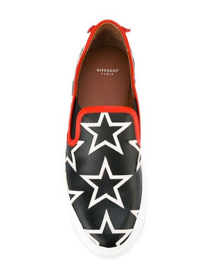 Givenchy Top Sneakers with Print Low Star White Trim Sneakers Star Red Black rxpIqw1rf