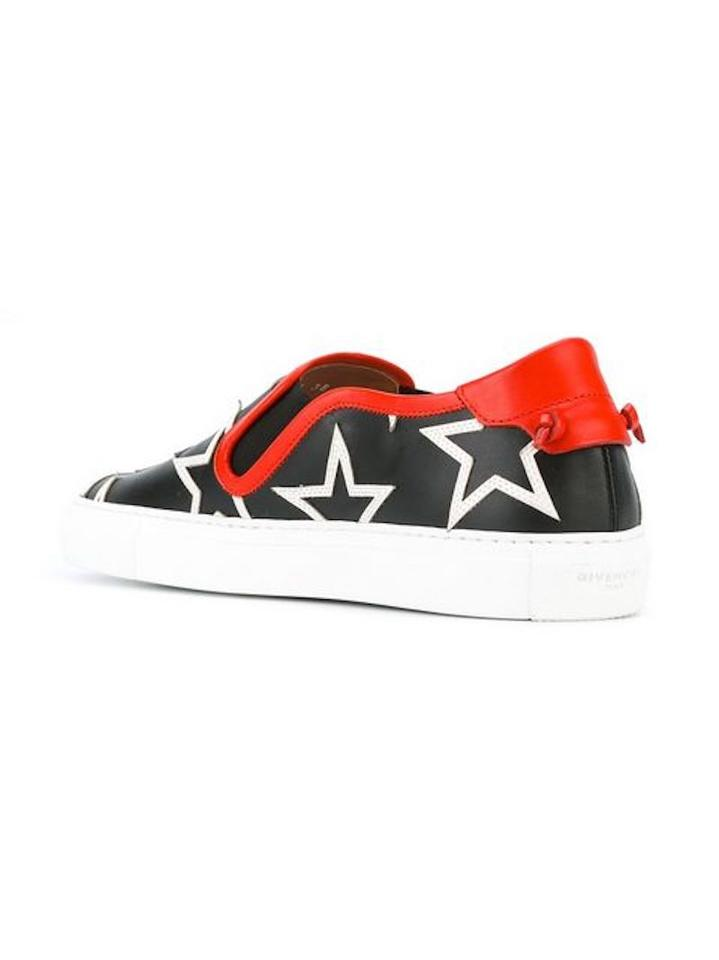 Star White Givenchy with Red Sneakers Black Low Trim Top Star Print Sneakers ZqffU5aw
