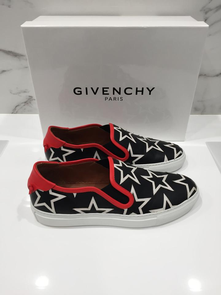 with Givenchy Star Red Sneakers Sneakers Top White Star Trim Print Black Low rqnwXqFB