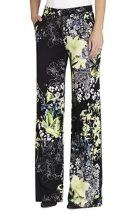 BCBGMAXAZRIA Florescent High Waist Palazzo Wide Leg Pants Black