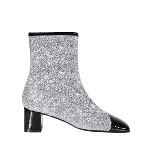 Chanel Glitter Milky Way Fabric Bronze Silver/Black Boots