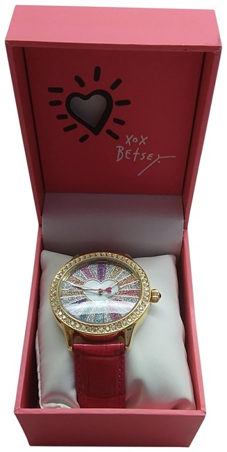 Item - Hot Pink New Sparkly Heart Watch