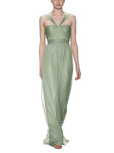 Amsale Sage Silk Crinkle Chiffon G878c Feminine Bridesmaid/Mob Dress Size 6 (S)