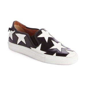 Givenchy Slip On Elasticated Sides Rear Knot Calf Leather Round Toe black Athletic