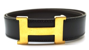 Hermès Rare 30Mm Gold Constance H Belt reversible leather