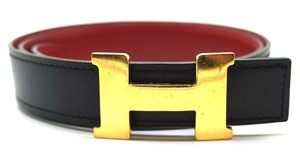 Hermès 24Mm Constance gold H Belt Size 65 Reversible leather Belt