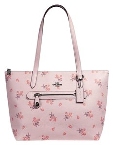Coach Tote in Silver/Ice Pink