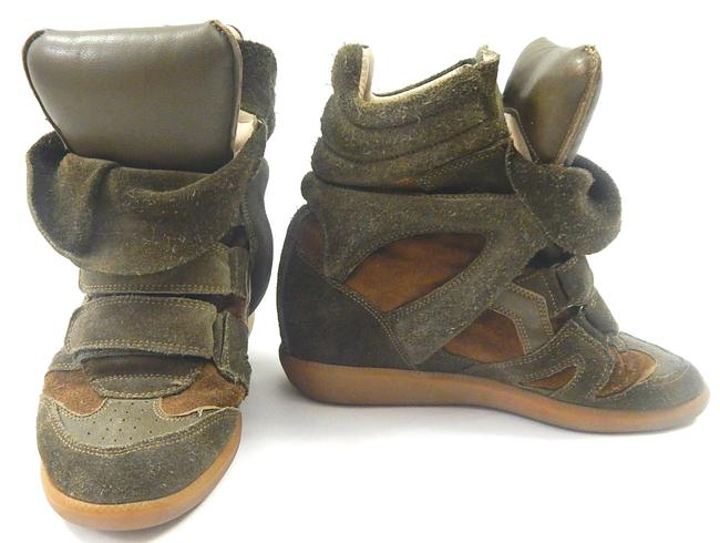 Item - Olive Green Bekett Suede Wedge (8) Sneakers Size EU 38 (Approx. US 8) Regular (M, B)