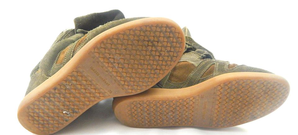 Wedge Olive Green Marant Sneakers 8 Bekett Suede Isabel Rx6X1w1