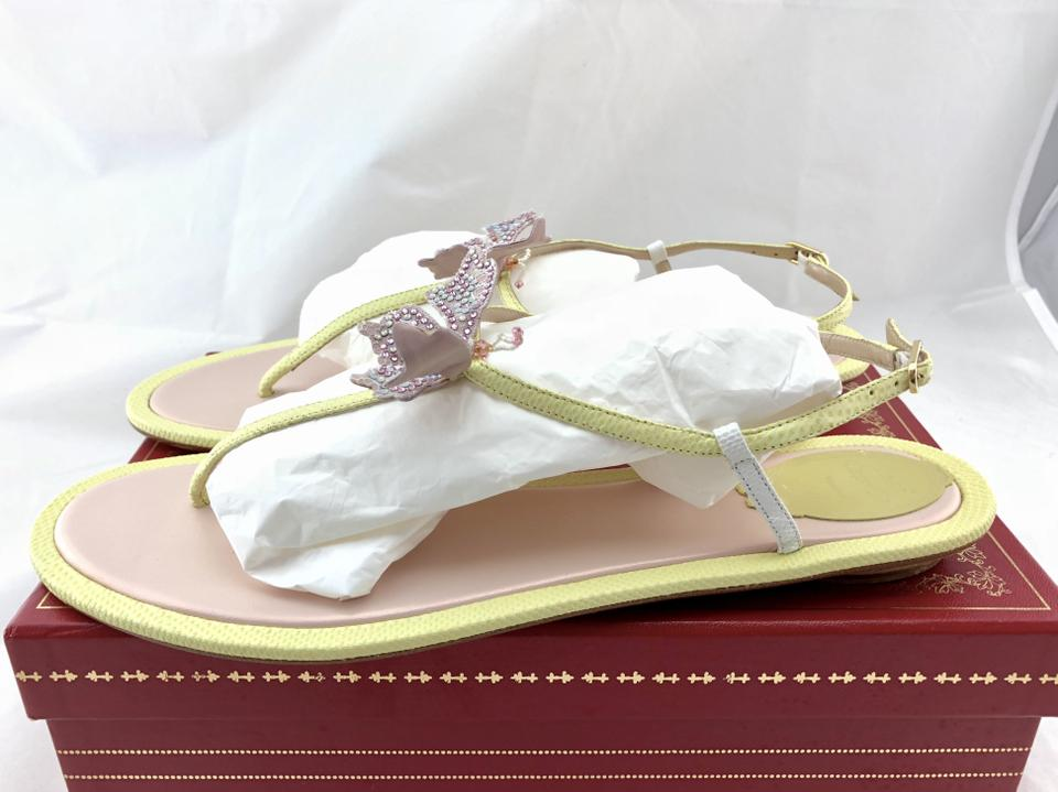 Caovilla Yellow Rene Sandals Butterfly Hustle Beaded 5d646A1F