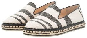 Vince Camuto Espadrille Striped Casual Beige and Black Flats