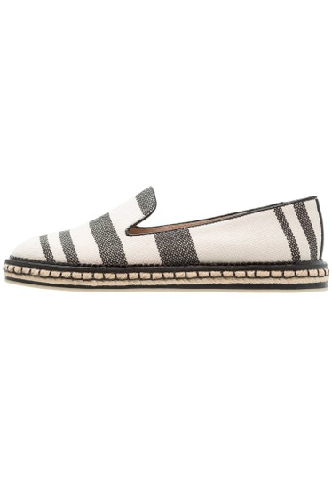 Vince Camuto Espadrille Striped Casual Beige and Black Flats Image 2