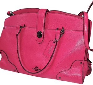 Coach Leather Mercer Limited Edition Satchel in Magenta