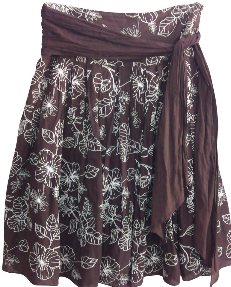 Connection 18 Brown Skirt Size 10 M 31 Tradesy