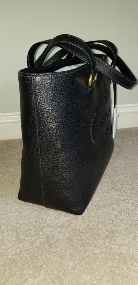 Prada Black Shoulder Leather Pebbled Tote Bag rUEZCrqw
