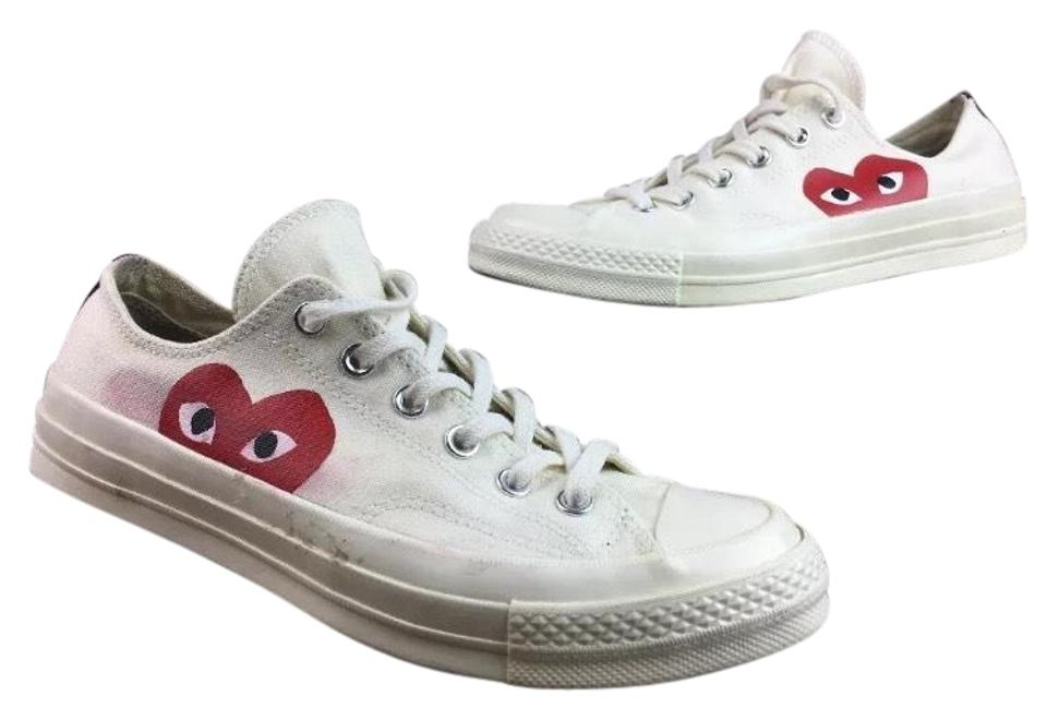 528e81f2b6a5 COMME des GARÇONS Converse X Play Chuck Taylor  70 Low White Mens 7 Womens  9 Sneakers. Size  US ...