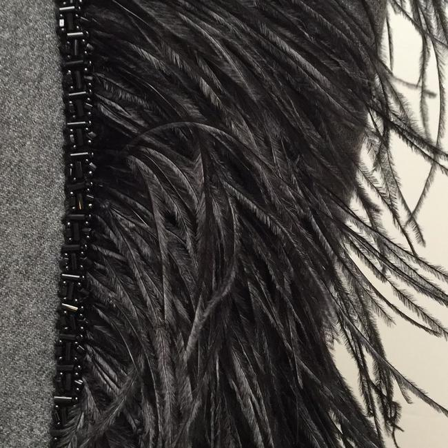Theory Black Ostrich Feather Vest Size 8 (M) Theory Black Ostrich Feather Vest Size 8 (M) Image 2