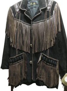 Scully Suede Fringe Unisex Leather Jacket