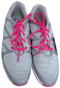 FootJoy light grey with pink trim and laces Athletic