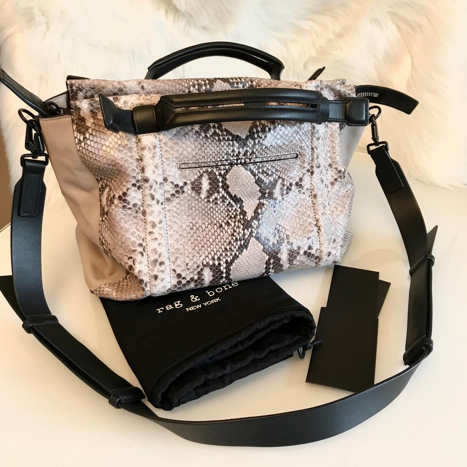 Aston Lambskin Blush Reduced Rag Bone Python Black amp; New Satchel Leather x0nRqpqwI8
