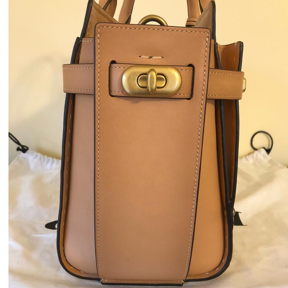 Leather Swagger 1941 Satchel Apricot Coach Double xZIEwzZg