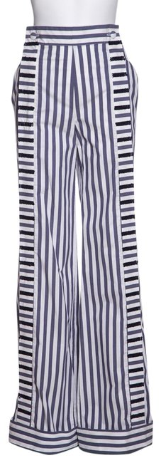 Item - White & Blue Stripe Pants Size 0 (XS, 25)