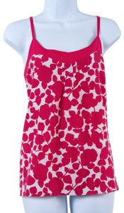 New York & Company Top Hot Pink and White