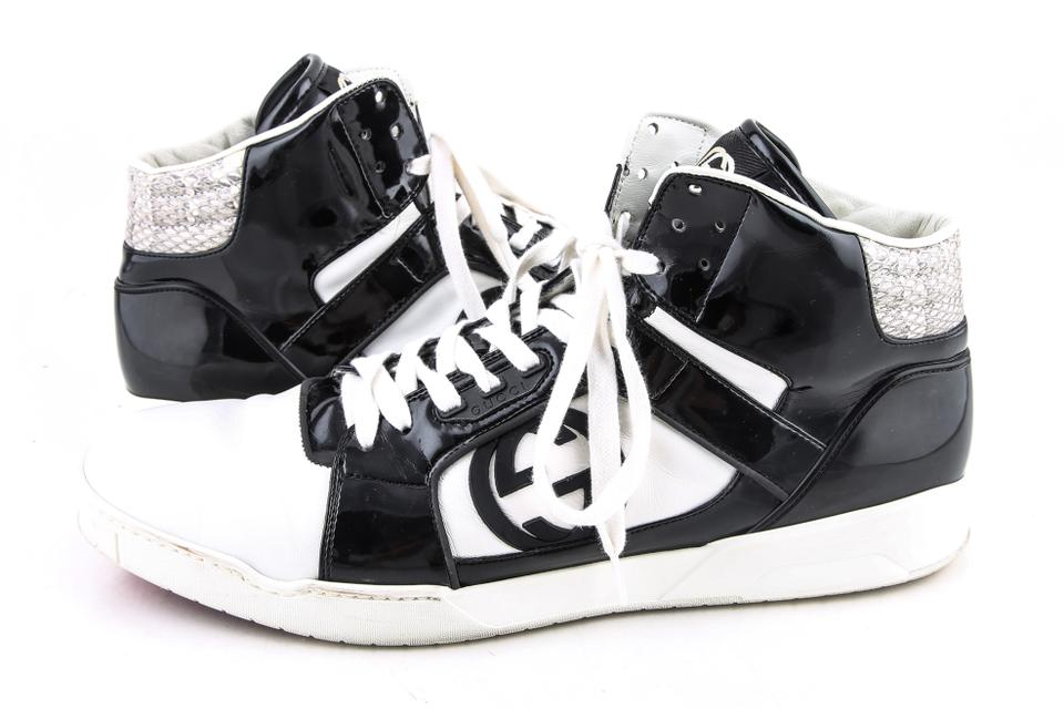a10060270 Gucci Black/White Black/White Rebounds Gg High Top Sneakers Shoes Image 0  ...