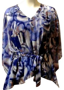 Jennifer Lopez Top purple blue motif