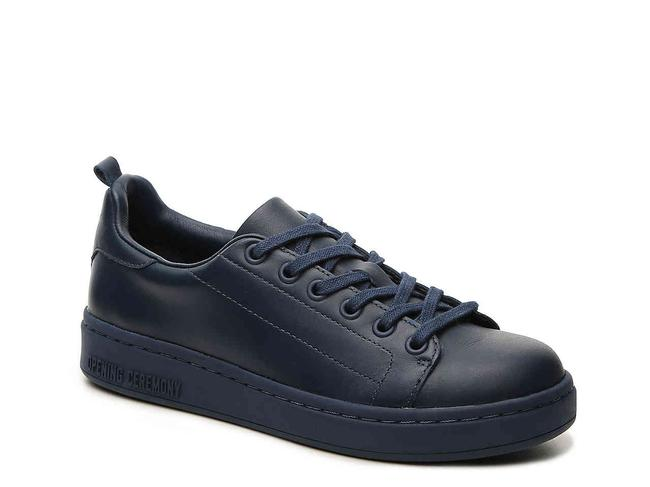 Item - Navy New Azull Low Top Lace-up Leather Sneakers Size US 5 Regular (M, B)