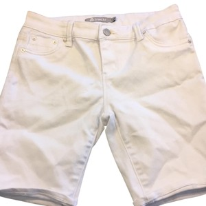 Tractr Jeans Bermuda Shorts white