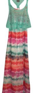 multi colored, white, pink, orange, green Maxi Dress by PAPER DOLL