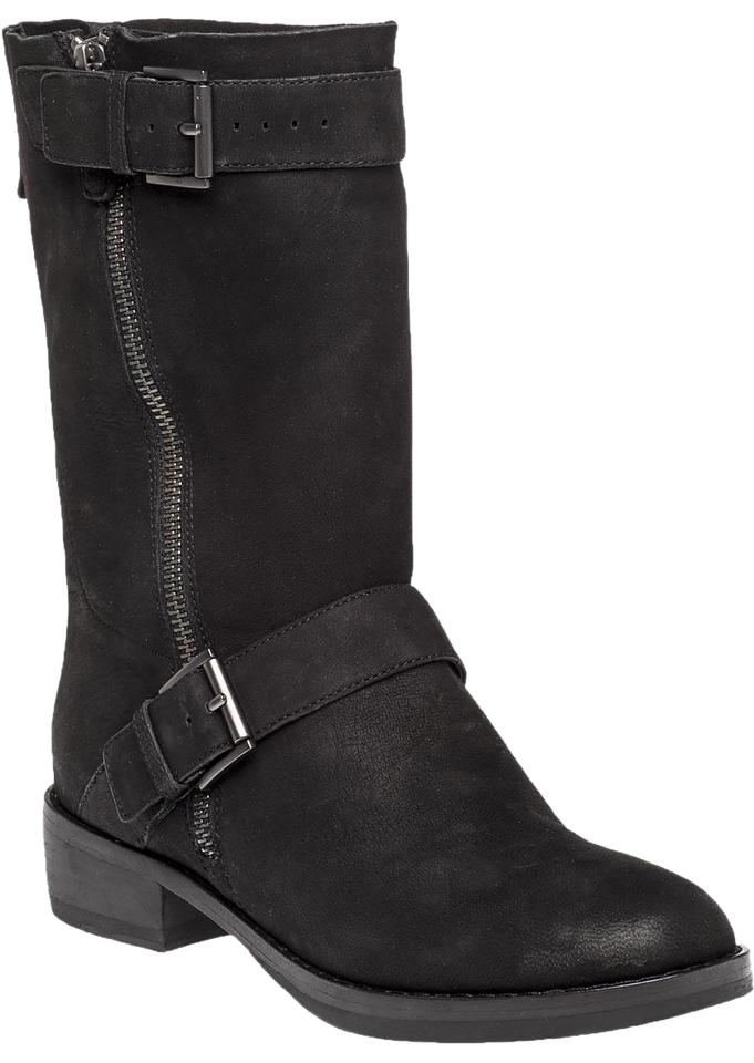 Nubuck Fisher Boots Leather Black Eileen Booties Tumbled 1tqwdtF