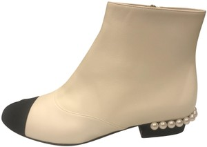 4de0628a61a White Chanel Boots   Booties - Up to 90% off at Tradesy
