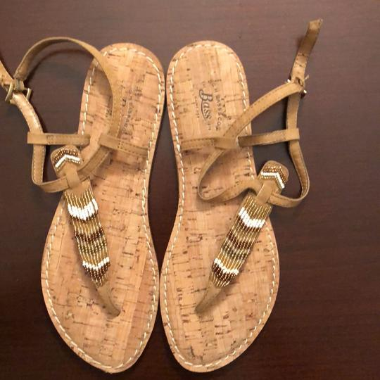 G.H. Bass & Co. Tan, brown, white, gold Sandals Image 2