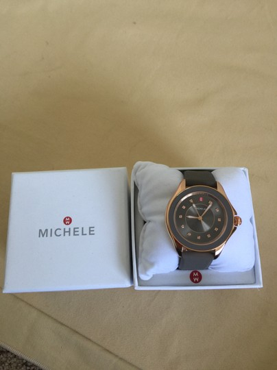 Michele $350 NWT TAUPE Cape Topaz WATCH MWW27A000005 Image 3