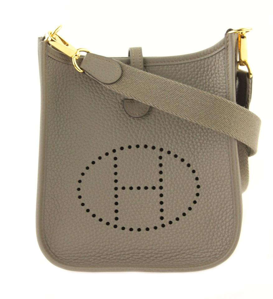 0b06da4d227a Hermès Evelyne 16 Tpm Gris Etain Grey Leather Cross Body Bag - Tradesy