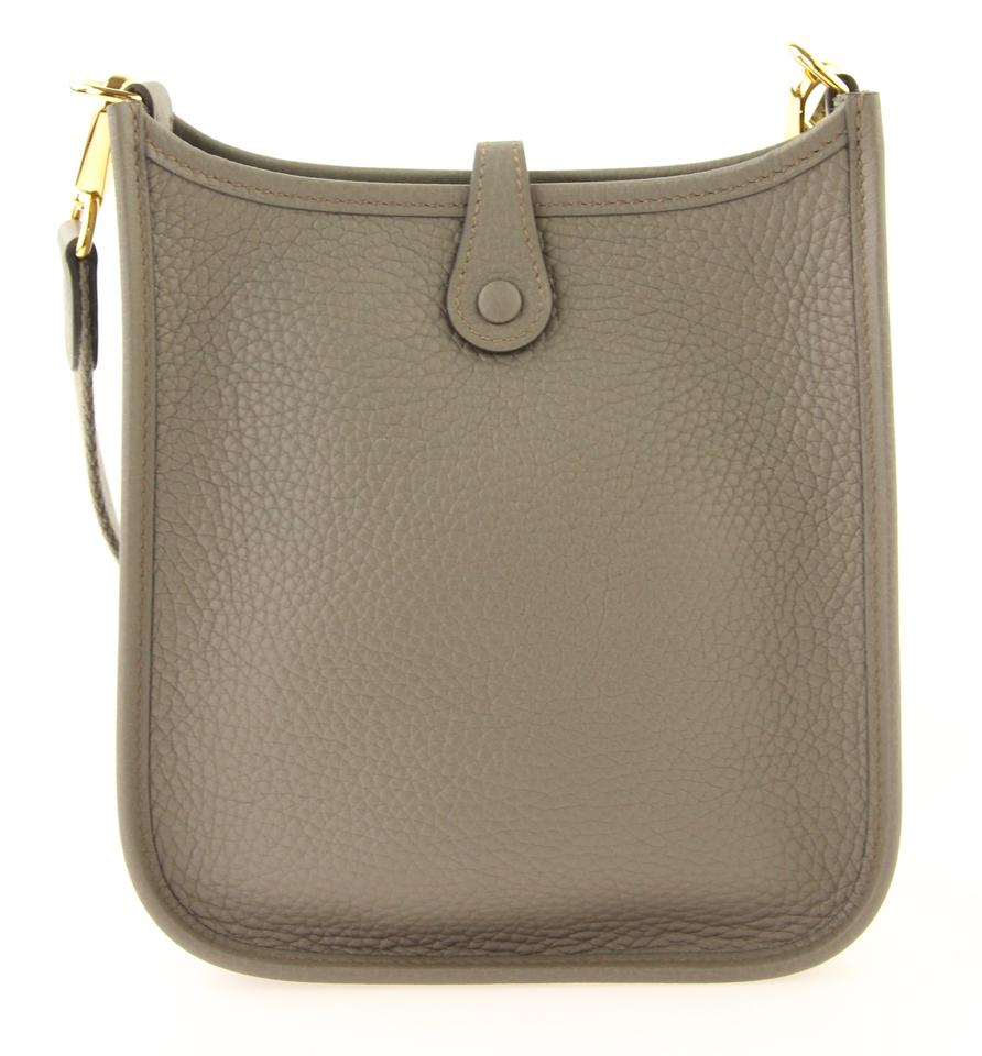 85890ed18ae1 Hermès Evelyne 16 Tpm Gris Etain Grey Leather Cross Body Bag - Tradesy