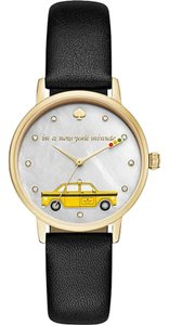 Kate Spade Metro Taxi In a New York Minute Leather Watch