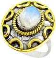 Other New 925 Silver Natural Moonstone Ring 7.5 Image 0