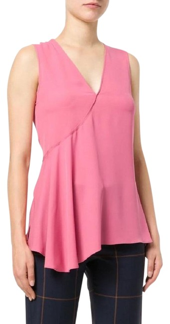 Preload https://img-static.tradesy.com/item/23812080/theory-orchid-pink-fluid-flared-v-neck-silk-georgette-h1102507-blouse-size-4-s-0-1-650-650.jpg