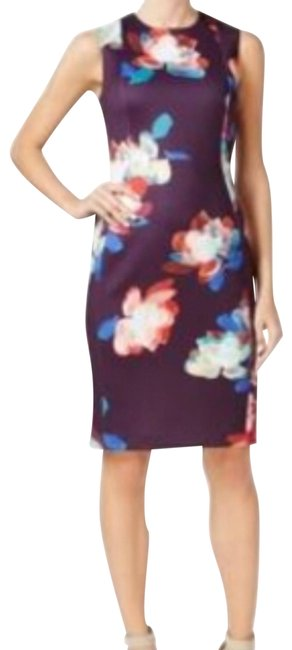 Preload https://img-static.tradesy.com/item/23812116/calvin-klein-multicolor-floral-scuba-mid-length-workoffice-dress-size-8-m-0-1-650-650.jpg